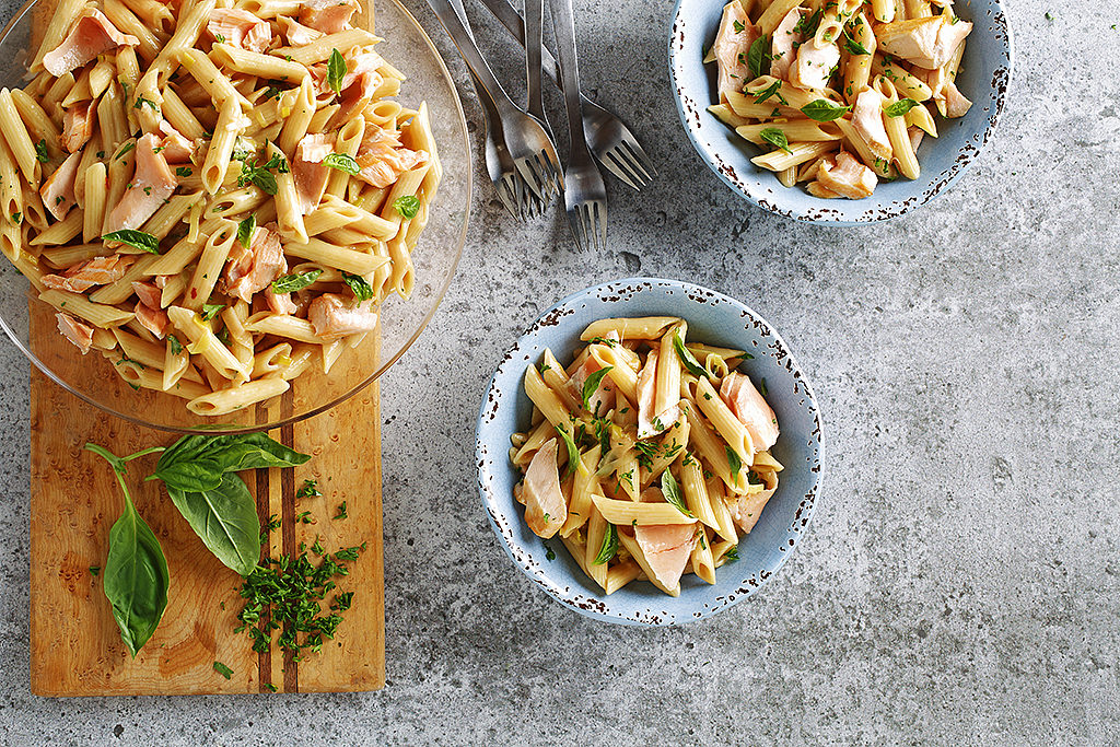 Salmon and Leek Pasta