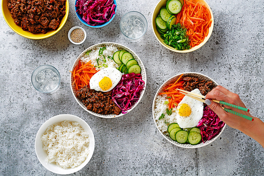 Korean-Style Beef and Veggie Bowl