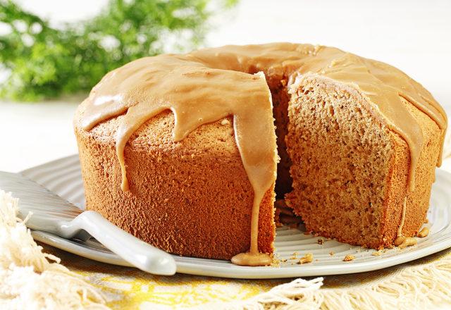 Maple Walnut Chiffon Cake