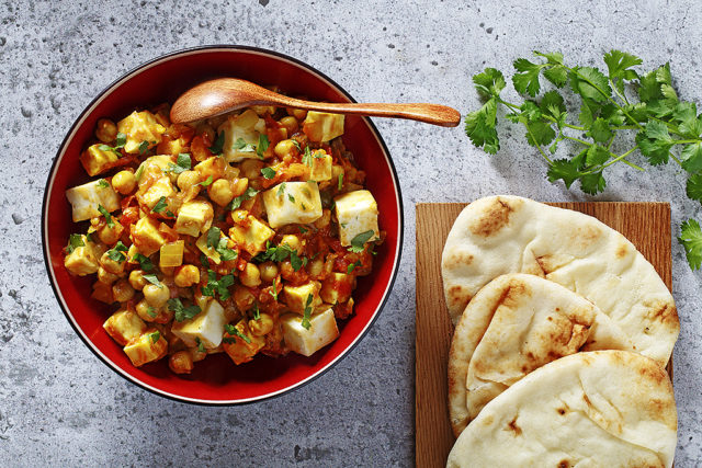 Indian-Style Chickpeas and Paneer