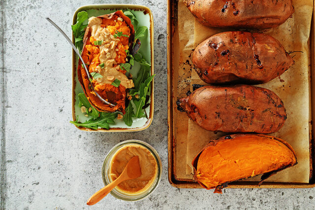 Peanut Butter Sweet Potato