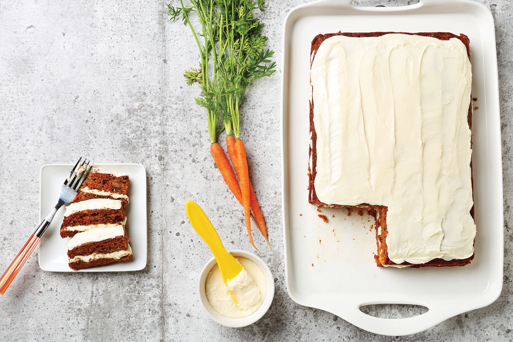 Carrot Date Cake with Maple Cream Cheese Frosting