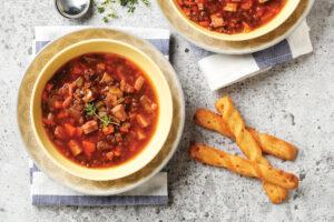 Easy Ham and Lentil Soup
