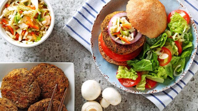 Mushroom Squash Burgers