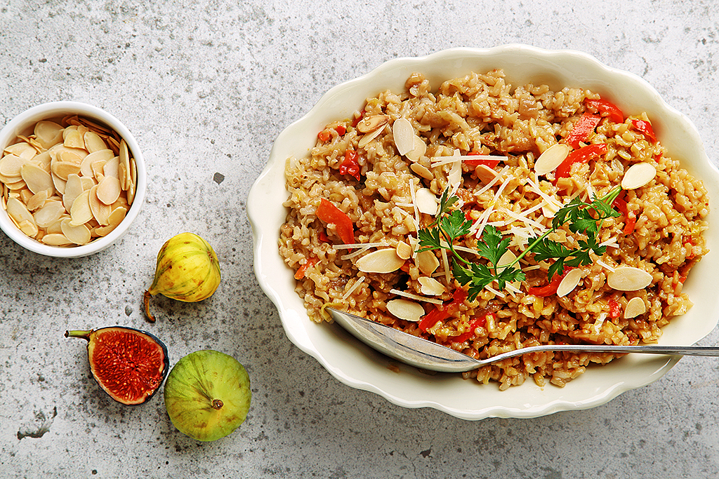 Fig and Almond Brown Rice