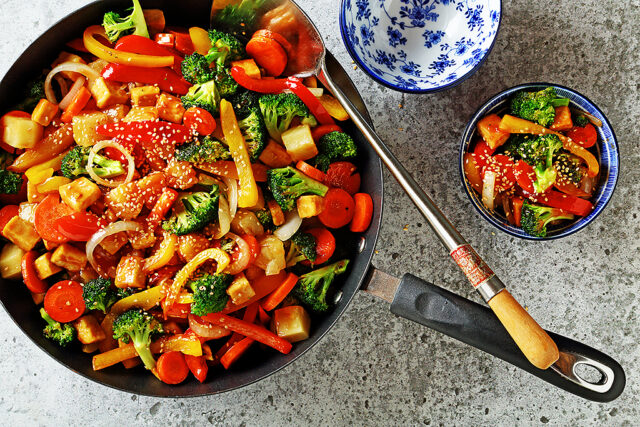 Crispy Oven Baked Sweet and Sour Tofu