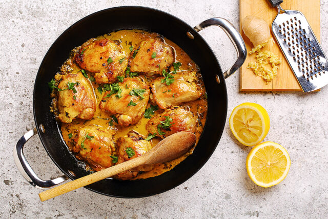 Curried Lemon Ginger Chicken