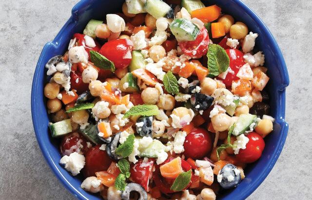 Creamy Greek Chickpea Salad