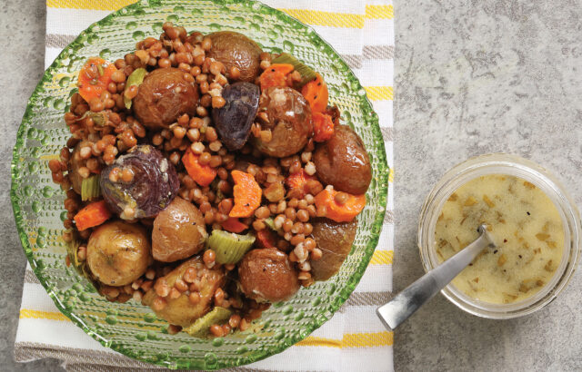 Lentil and Roasted Baby Potato Salad