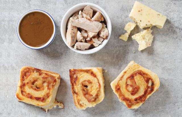 Peanut Chicken Biscuit Rolls