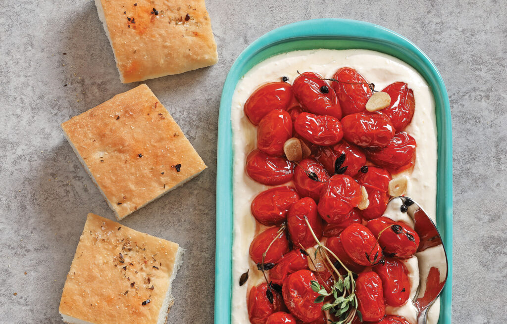 Whipped Feta with Slow-Roasted Cherry Tomatoes